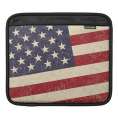 Vintage American Flag July 4th BBQ Faded Old Glory iPad Sleeve