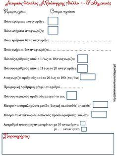 Δραστηριότητες, παιδαγωγικό και εποπτικό υλικό για το Νηπιαγωγείο: Ερωτηματολόγια αξιολόγησης για τον ατομικό φάκελο (portfolio) των νηπίων
