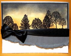 Sunset Inspired Masculine Card by Julie Gearinger - Cards and Paper Crafts at Splitcoaststampers
