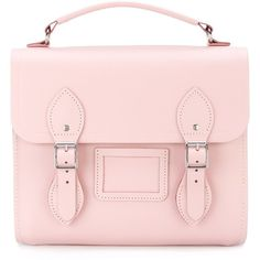 The Cambridge Satchel Company Barrel Backpack (865 ILS) ❤ liked on Polyvore featuring bags, backpacks, pink backpack, leather daypack, rucksack bag, leather knapsack and pink leather backpack