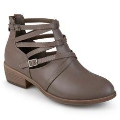 Journee Collection Savvy Women's Ankle Boots, Size: 7.5, Beig/Green (Beig/Khaki)