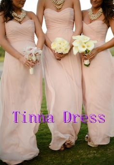 Cheap Gorgeous Blush Strapless Sweetheart Long Chiffon Bridesmaid Dress is on Sale! Buy Gorgeous Blush Strapless Sweetheart Long Chiffon Bridesmaid Dress at BridesmaidWire Now. Blush Pink Bridesmaids, Beach Bridesmaid Dresses, Bridal Party Dresses, Wedding Bridesmaids, Wedding Attire, Wedding Dresses, Prom Dresses, Blush Dresses, Pretty Dresses