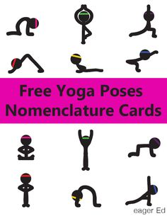 Y is for Yoga Poses Nomenclature Cards   eager Ed