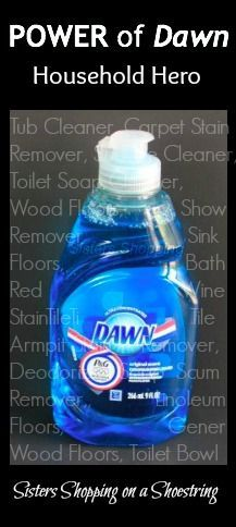 Dawn and vinegar cleaner. It's a must-have and far outperforms most expensive cleaners!Click through to read about the many uses with step-by-step directions! Sisters Shopping on a Shoestring