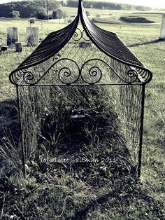 Mortsafes- 19th C. caged graves in Great Britain.  These were used to deter grave robbers from digging up bodies and selling the corpses for anatomical studies.  They were not to keep zombies or vampires in the grave as some people misleadingly believe.