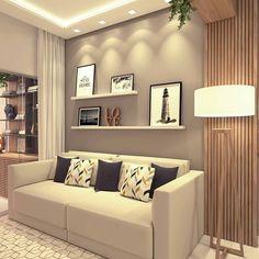 A imagem pode conter: sala de estar e área interna - Cozinha - Home Room Design, Decor Interior Design, Living Room Designs, Home Living Room, Living Room Decor, Apartment Design, Home Decor Inspiration, Decoration, Sweet