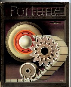 Fortune magazine cover, vintage steampunk, by George Giusti 1941