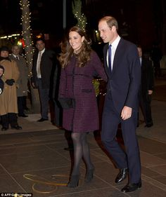 'It's good to be here': William gushed to door staff as he walked into the hotel hand-in-hand with Kate