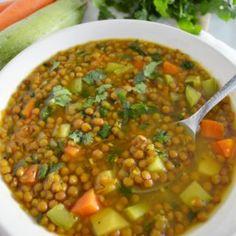 Lentil Recipes, Veggie Recipes, Mexican Food Recipes, Soup Recipes, Dinner Recipes, Cooking Recipes, Vegan Breakfast Recipes, Vegan Recipes Easy, Good Food