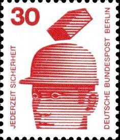 German safety stamp, 1972. Ach!
