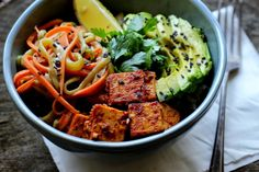 Chili Tofu Brown Rice Bowl