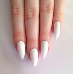 pinterest janexierivera  white almond nails nails