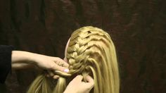 Hair braiding Olga Kharitonova., via YouTube.