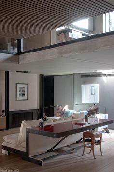 Industrial style loft living #design #bespoke #interiors #homes #houses #designer #architect #interiordesign