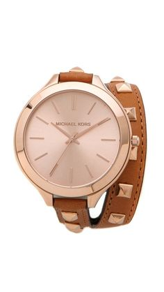 Michael Kors Pyramid Runway Double Wrap Watch