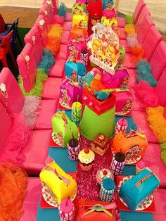 Candyland Party (love the tutus on the chairs and maybe some type of box/bag to load up the candy in)