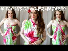 Comment nouer un paréo en robe ou top d'été - YouTube