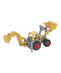 Another great find on #zulily! Yellow Frontloader & Backhoe #zulilyfinds