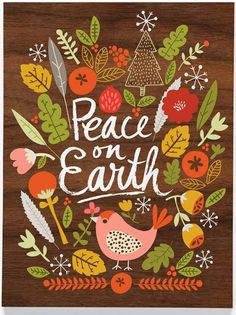 Peace on Earth // cards // print & pattern: XMAS 2013 - carolyn gavin…