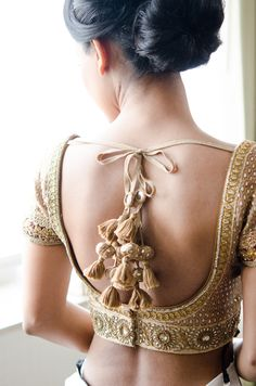 Sabyasachi Gold Tasseled Top