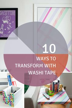 Perfect for decorating dorms! ---> http://www.hgtv.com/design/make-and-celebrate/handmade/10-ways-to-transform-your-space-with-washi-tape-pictures?soc=pinterest
