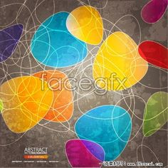 Color trend line background vector