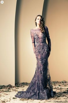 Lebanese fashion designer Ziad Nakad unveiled his new Haute Couture fall/winter 2013 collection of gorgeous evening dresses and gowns. Elegant Prom Dresses, Pretty Dresses, Formal Dresses, Wedding Dresses, Dresses 2016, Bridesmaid Gowns, Prom Gowns, Sexy Dresses, Ball Gowns