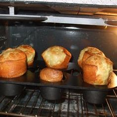 To die for popovers.  Get a popover pan and make sure your ingredients are all room tempurature.  Popovers Allrecipes.com