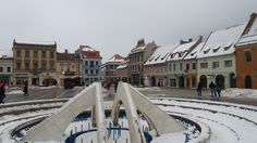 Brasov's city center in Romania Romania, Places Ive Been, Street View, World, City, Building, Pictures, Travel, Photos