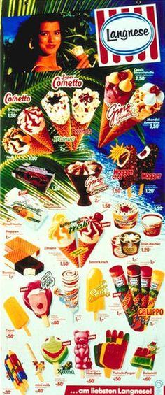 Langnese Ice Lollys Eiskarte 1987 Popsicle