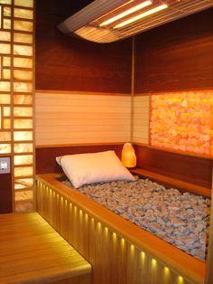 Home gym ideas decor bathroom 64 ideas Home Spa Room, Spa Rooms, Saunas, Massage Room Design, Sauna Steam Room, Salt Room, Spa Interior, Interior Garden, Interior Design