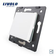 Envío Libre, livolo blanco materiales plásticos, Estándar de LA UE, Tecla de Función Para La Pared Interruptor de botón grande de Dos Vías, VL-C7-K1S-11