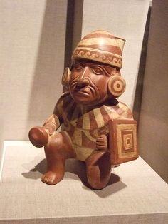Kneeling Warrior Peru north coast Moche culture 400 BCE-550 CE Earthenware by mharrsch, via Flickr