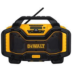 DEWALT Max Cordless Jobsite Radio Bluetooth Adapter at Lowe's. The is designed to be the most versatile jobsite radio charger on the market. The unit is able to run off and charge DEWALT slide pack battery Radios, Site Radio, Power Tool Batteries, Power Tools, Rechargeable Battery Charger, Dewalt Tools, Cordless Tools, Bluetooth Speakers, Ac Power