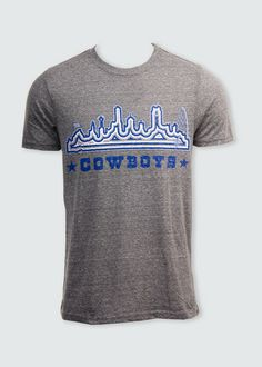 Get ready for #football with this #DallasCowboys #skyline design y'all!  #gocowboys #cowboysnation   Available for preorder right now.