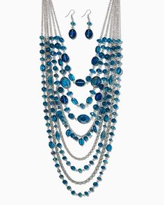 charming charlie | Deluxe Dazzle Necklace Set | UPC: 410007056168 #charmingcharlie