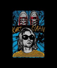 Kurt Cobain T Shirt Vintage For Men Women Graphic Tees is your new tee will be a great gift for him or her. Kurt Cobain Art, Nirvana Kurt Cobain, Nirvana Art, Rock Band Posters, Design Kaos, Dope Wallpapers, Rock Legends, Graphic Design Posters, Psychedelic Art