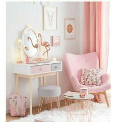 Cozy corner perfect for any girl. #retrohomedecor