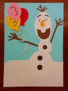 Verjaardag kaart Olaf frozen.