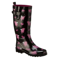 Pigs Fly Rain Boots.  LOVE