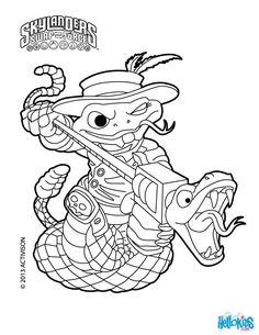 skylanders swap force coloring page for kids rattle shack coloring sheet