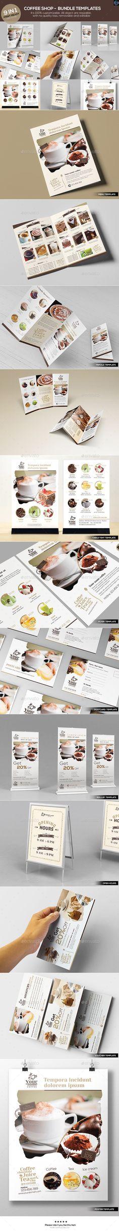 Coffee Shop - Bundle Template #design Download: http://graphicriver.net/item/coffee-shop-bundle-templates/12527338?ref=ksioks