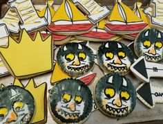 Where the wild things are cookies  #carinaedolce www.carinaedolce.com www.facebook.com/carinaedolce Cookie Favors, Wild Things, Sugar Cookies, Facebook, Party, Receptions, Direct Sales Party, Rolled Sugar Cookies