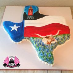 Can't Get More Texas Than This - Cake by Cakes ROCK!!!