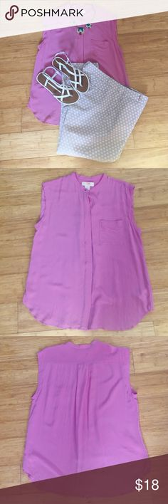 Joe Fresh Silk Blouse So pretty!  Loose, breezy fit.  Button-front.  100% silk.  No flaws or stains at all--EUC!  Color is closest to last two pics. Joe Fresh Tops Blouses