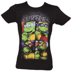 Men's Black Teenage Mutant Ninja Turtles #Graffiti T-Shirt xoxo