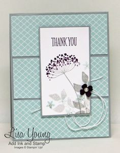 Stampin' Up! Summer Silhouettes stamp set. Handmade card by Lisa Young, Add Ink and Stamp
