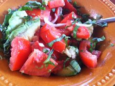 """Point-less"" Meals: Tomato- Avocado Salad"