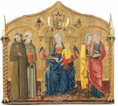 Matteo di Pietro, più noto come Matteo da Gualdo - Madonna con Bambino e Santi