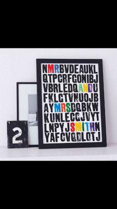 Secret message alphabet